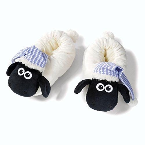 NICI 41476Shaun le pantofole con Dormiglione, 38–41, colore: bianco/nero