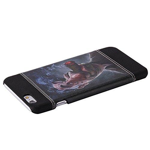PC Cuir Coque Strass Case Etui Coque étui de portefeuille protection Coque Case Cas Cuir Swag Pour Apple iPhone 6S Plus (5.5 pouces)+Bouchons de poussière (2Q) 14