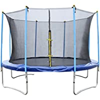 Sports Trampoline with Safety Net Enclosure 6ft 8ft 10ft 12ft 14ft Heavy Duty for Kids and Adults