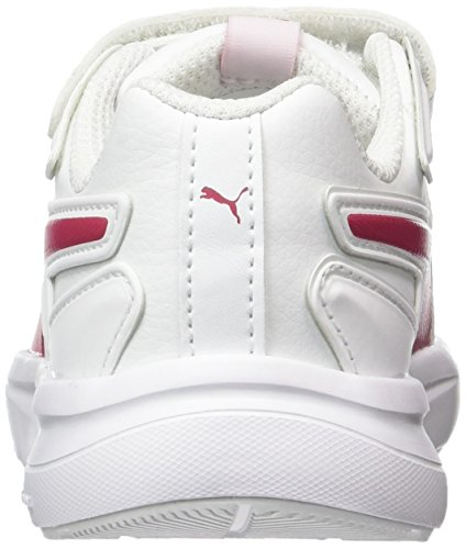 Puma Escaper Sl V Ps, Sneakers Basses Mixte Enfant Blanc (White-love Potion)