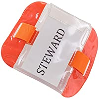 Confezione da 2, colore: arancio SIA da braccio porta Badge di sicurezza, per porta, il personale, per addetti alla e impianti