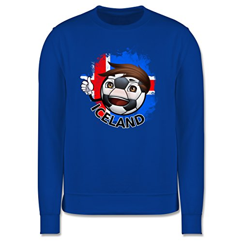 EM 2016 - Frankreich - Fußballjunge Island - Herren Premium Pullover Royalblau