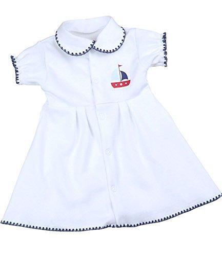 abykleidung Kleidchen Kleid Mädchen Nautisch Segelboot 44 - 50cm P3 (Nautische Baby-mädchen-kleidung)