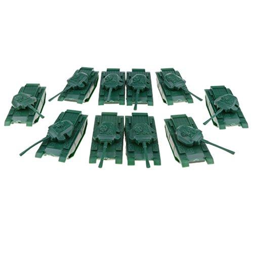 Sharplace 10 pcs giocattolo militare soldata scene sabbia uomo accessorio carri armati carrozze plastica regalo
