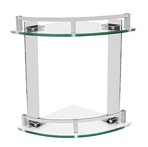 KIEYY Acero inoxidable 20cm soporte de esquina de cristal del baño, colgante,...