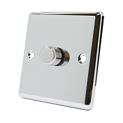 AET cpc1gdim101Gang 2Wege 10A 1000W Klassischen Chrom Poliert Licht Dimmer Schalter