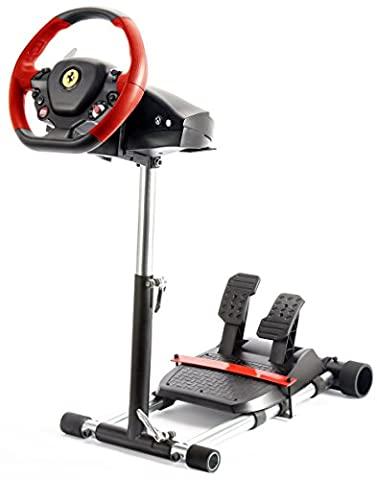 Wheel Stand Pro for Thrustmaster F458 SPIDER/ T80 /T100 /F458 /F430 wheels - V2 ROSSO - Black