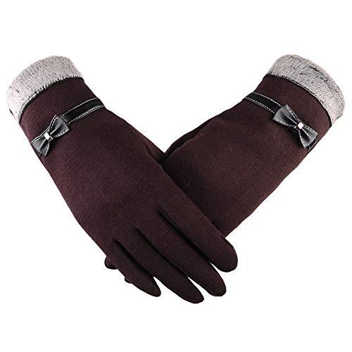 YAZIDAN Frauen Mode Bowknot Winter Warme Handschuhe Ski Wind Schützen Hände Touchscreen Handschuhe Winter Dicke warme Handschuhe Fahrradhandschuhe Motorradhandschuhe Mountainbike Trend Handschuhe