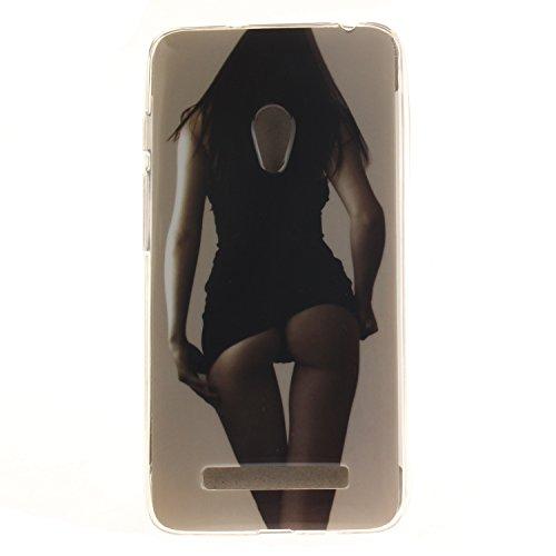 Ukayfe Per Zenfone 5 Custodia fit ultra sottile Silicone Morbido Flessibile TPU Custodia Case Cover Protettivo Skin Caso Con Stilo Penna - Almond Tree Sexy girl