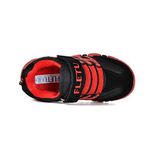 Sommer Kinder Turnschuhe Sport Atmungsaktive Mesh Schuhe Outdoor Freizeit Laufschuhe Rutschfest Straßen Sneaker für Jungen Mädchen Rot