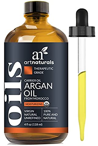 ArtNaturals Organic Morrocan Argan Oil - 118 ml - for Hair, Face and Skin - 100% Pure Grade A Triple Extra Virgin Cold Pressed From The kernels of the Argan Tree - The Anti Aging, Anti Wrinkle Beauty Secret