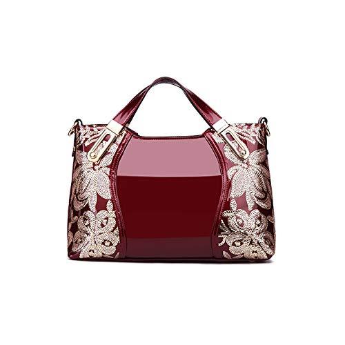 Tisdaini Damenhandtaschen Mode große Schultertaschen Lackleder Shopper Umhängetaschen