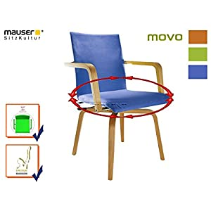 MAUSER SITZKULTUR Funktionsstuhl /Seniorenstuhl / Rotationsstuhl MOVO blau 360 Grad drehbar für eigenständige Mobilität…