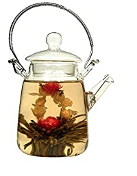 EZ Life Glass Tea Pot Jar With Tea Filter - 350ml ( 1pc)