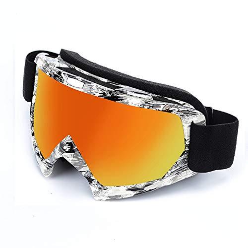 Aienid Sportbrille Retro Style 4 Skibrille Winddichter Augenschutz Size:24.3X9.8CM