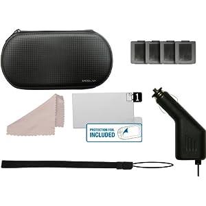 Speedlink Add-On-Kit für die Playstation Vita (Transporttasche, KFZ-Ladegerät, Displayfolie, Spielehüllen uvm.) schwarz