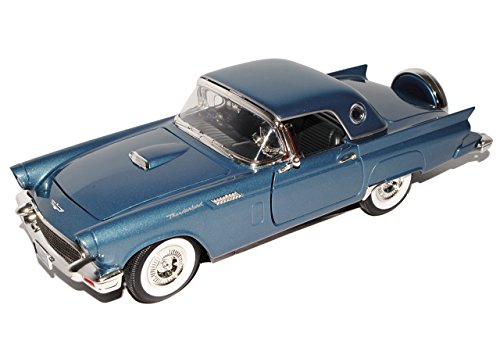 Ford Thunderbird Cabrio Grau Blau Mit Hard Top 1957 1/18 Yatming Modell Auto