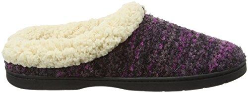 Dearfoams Space-dye Boucle Clog With Memory Foam, Chaussons femme Purple (Purple 00500)