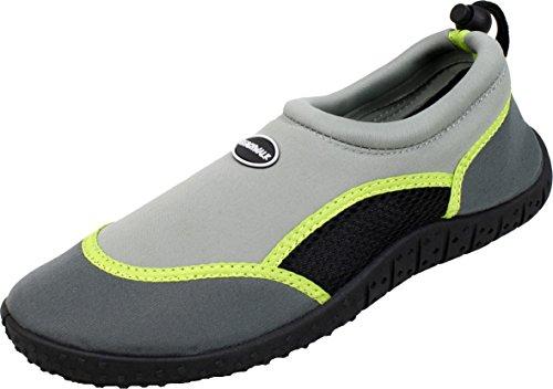 BOCKSTIEGEL® SYLT Chaussures d'Aqua | 36-41 | Femme | Enfant | Néoprène | Plage | Kayak | Plongée | Vacances grau
