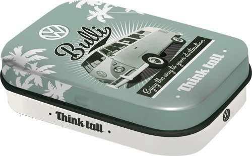 Nostalgic Art Pilulier style rétro avec imprimé Bulli VW avec dragées à la menthe poivrée incluses