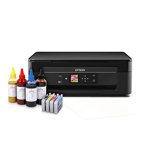 Sublimationsdrucker Starter Paket inkl. 400ml Sublimationstinte & Papier Tassendrucker T-Shirt Textil Drucker -