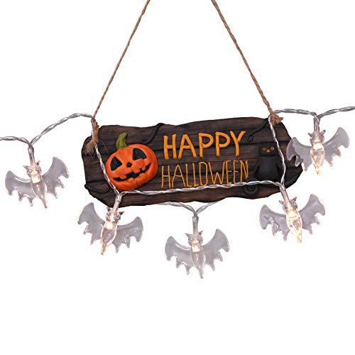 Myspace 2019 Neueste Dekoration für Halloween Warmweiß Bat Vampire LED Lichterkette Halloween Night Party Bar Decor Batterie (A) (Holloween Vampir Kostüm)