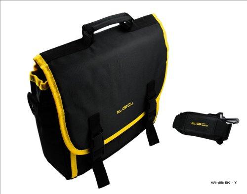 New Schwarz & Gelb Trim Messenger Style Tragetasche für Das HP Slate 7Tablet & Cover
