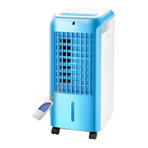 COLER Einzelner kalter Klimaanlagen-Ventilator, 4 Universalräder, die intelligenten Fernsteuerungsluftkühler mit Luftentfeuchter-Kühlern nach Hause Schlafsaal,Blue -