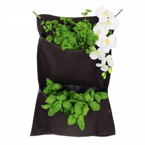 Mur végétal textile 2 compartiments 58 x 41 cm