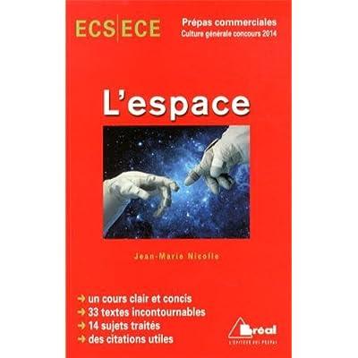 L'Espace - Thème de Culture G Hec 2014