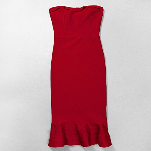 HLBCBG Damen Kleid Orange Orange Orange - Rot
