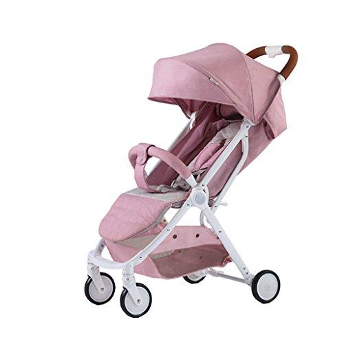 ZELIAN Passeggino Seduto Passeggino Pieghevole Ultra Leggero Passeggino Neonato 0/1-3 Anni (Colore : Pink)