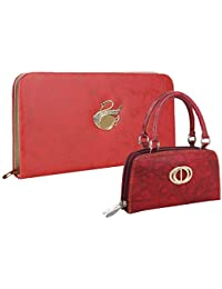 Fillincart Pu Wallet/Clutch/ Purse Combo Of 2 For Women (Pink And Red) - B07HHY9SP7