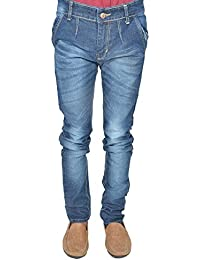 Leo Men's Blue Stretchable Slim Fit Jeans (J24)