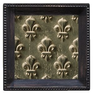 Thirstystone Ambiance Coaster Set, Embossed Fleur de Lis, Multicolored by - De Lis Coaster Set Fleur
