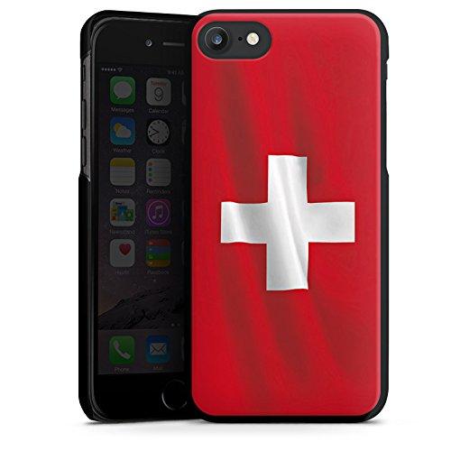 Apple iPhone X Silikon Hülle Case Schutzhülle Schweiz Flagge Switzerland Hard Case schwarz