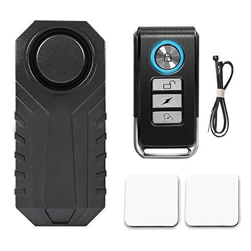 Honsin 113dB drahtloser Anti-Theft-Erschütterungs-Motorrad-Fahrrad-wasserdichte Sicherheits-Fahrrad-Warnung mit Direktübertragung 12v Alarm Remote-alkaline-batterie