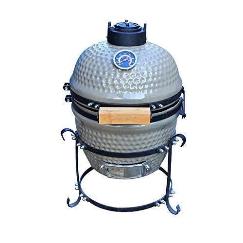 Keramik-Grill Oven Smoker Cart im Freien zu Hause,Green
