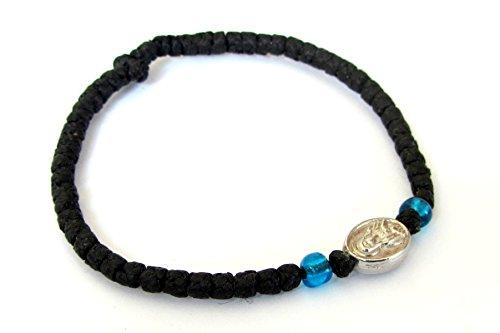 Handgefertigt Christian Orthodoxe komboskoini, Gebet Seil Armband Schwarz VM1
