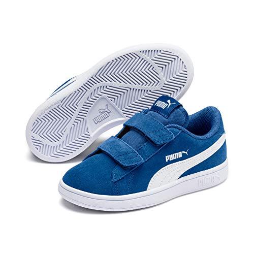 Puma Unisex-Kinder Smash v2 SD V PS Sneaker, (Galaxy Blue White 17), 1 EU (Shoes Suede Kinder-blue)