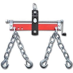 Vislone Equilibreur de Charge avec Manivelle pour Grue D'atelier 900kg Rouge et Argenté