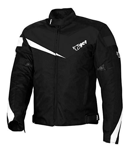 JET Chaqueta Moto Ciclomotor Hombre Textil con Protecciones Ligero Basic ECONOTECH (2XL (EU 54-56), Negro)