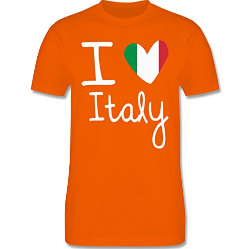 EM 2016 - Frankreich - I love Italy - Herren Premium T-Shirt Orange