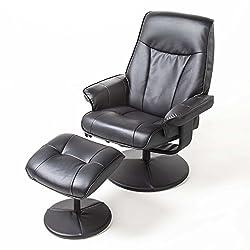 Alpha Techno Alpha 2041 schwarz Schwingungsfrequenzmassagesessel, Relaxsessel, Kunstleder, schwarz
