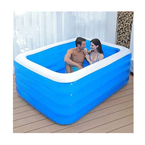 Soaking bath & Bañera para Adultos Familia de bañera Inflable Plegable No Cubierta de bañera, PVC Plástico Doble Drenaje Bañera Inflable Piscina Infantil (Size : 210 * 150 * 75cm)
