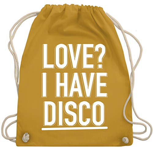 Festival Turnbeutel - Love? I have Disco - Unisize - Senfgelb - WM110 - Turnbeutel & Gym Bag