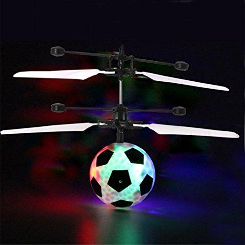 Nitro Rc Motor Flugzeug (2017Neueste dikewang Stress Reliver RC Flying Fußball Drohne Hubschrauber Ball integrierte LED Beleuchtung Strahlen für Kinder Erwachsene)