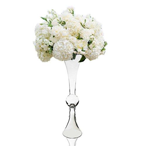 CYS® Klar wendbar Latour Trompete Glas Vase mit Ball in Zentrum, h-24