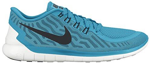Nike Free 5.0 - Scarpe sportive da Uomo Multicolore (Blue Lagoon/Black-Copa-White)