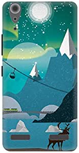 The Racoon Grip Alaska hard plastic printed back case / cover for Lenovo A6000 Plus